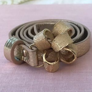 Lilly Pulitzer Gold Bow Belt